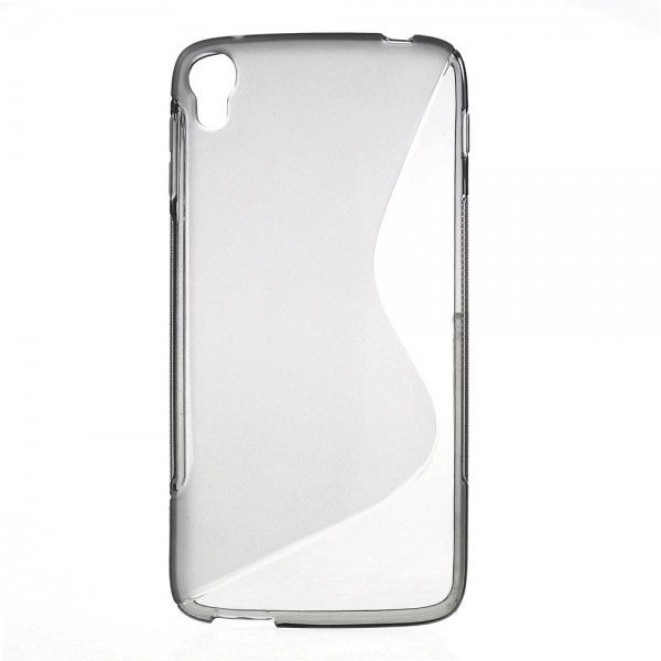 Alcatel One Touch Idol 3 5.5 Elastisches Plastik Case S-Shape - grau