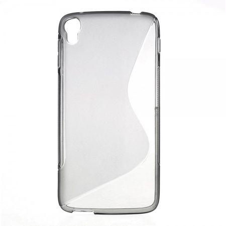 Alcatel One Touch Idol 3 5.5 Elastisches Plastik Case S-Shape - grau