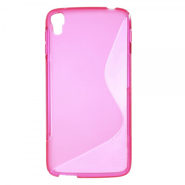 Alcatel One Touch Idol 3 5.5 Elastisches Plastik Case S-Shape - rosa