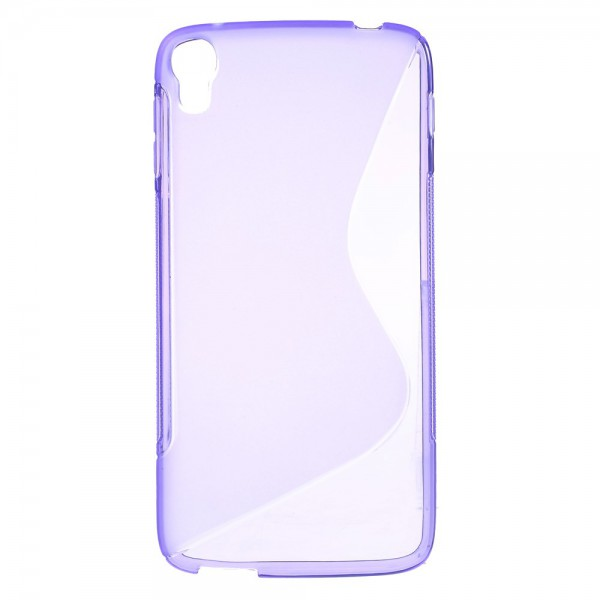 Alcatel One Touch Idol 3 5.5 Elastisches Plastik Case S-Shape - purpur