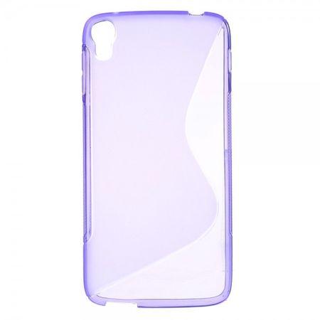 Alcatel One Touch Idol 3 5.5 Elastisches Plastik Case S-Shape - purpur