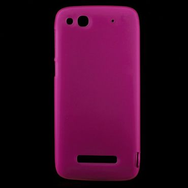 Alcatel One Touch Idol Alpha Elastisches, mattes Plastik Case - rosa