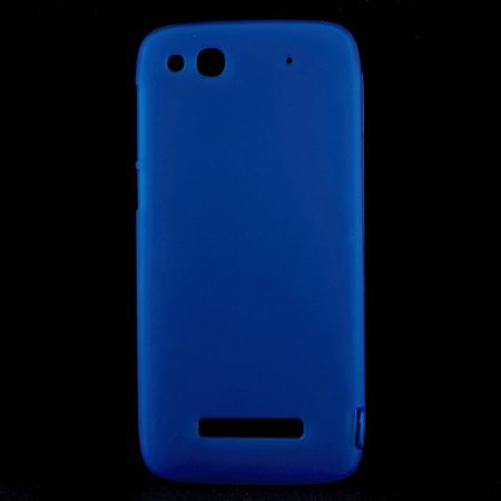 Alcatel One Touch Idol Alpha Elastisches, mattes Plastik Case - blau