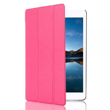 iPad Mini 4 Robustes, dreifach faltbares Leder Smart Case mit Standfunktion - rosa