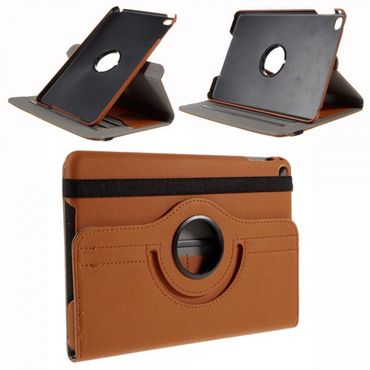 iPad Mini 4 Leder Smart Case mit stoffartiger Textur und Standfunktion - orange