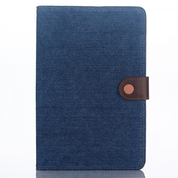 iPad Mini 4 Leder Smart Case im Jeans Look mit Standfunktion - dunkelblau