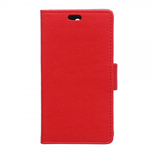 Sony Xperia E4g/E4g Dual Leder Case mit Litchitextur und Standfunktion - rot