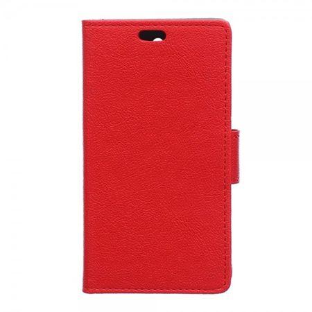 Sony Xperia E4g/E4g Dual Leder Case mit Litchitextur und Standfunktion - rot