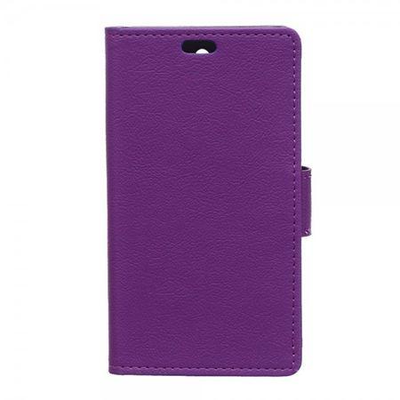 Sony Xperia E4g/E4g Dual Leder Case mit Litchitextur und Standfunktion - purpur