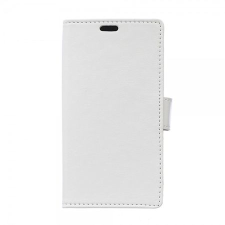 Sony Xperia E4g/E4g Dual Crazy Horse Leder Case mit Standfunktion - weiss