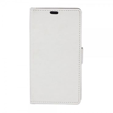 Sony Xperia E4g/E4g Dual Magnetisches Leder Flip Case - weiss