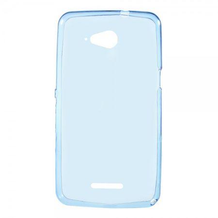 Sony Xperia E4g/E4g Dual Elastisches, gelartiges Plastik Case - dunkelblau