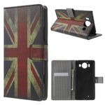 Microsoft Lumia 950 Leder Case mit UK Flagge retro-style