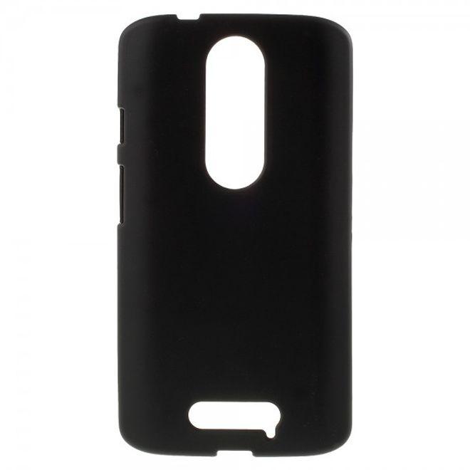 Motorola Moto X3 Mattes, elastisches Plastik Case - schwarz