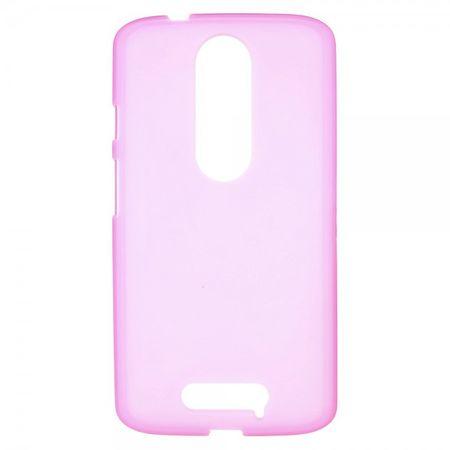 Motorola Moto X3 Mattes, elastisches Plastik Case - rosa