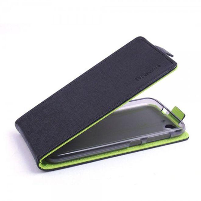 ZTE Blade S6 Leder Flip Case vertikal - schwarz