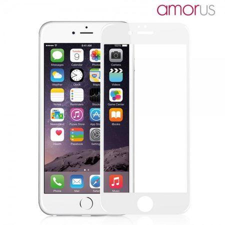iPhone 6/6S Schutzfolie aus gehärtetem Glas für die komplette Vorderseite von Amorus - weiss