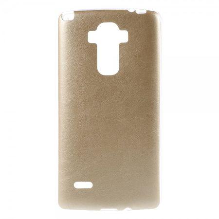 LG G4 Stylus Elastisches Plastik Case mit lederartiger Oberfläche - gold