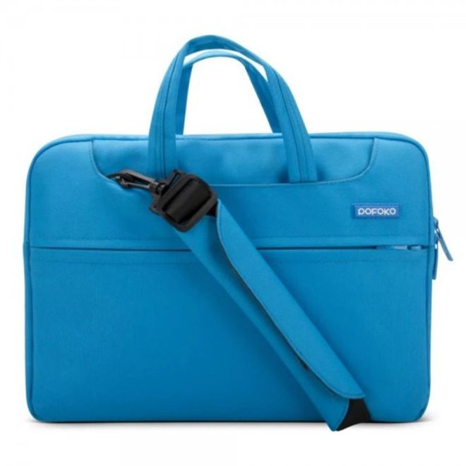 Pofoko iPad Pro 12.9 Pofoko Waltz Series Tasche mit Schulterschlaufe - blau