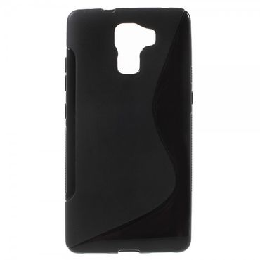 Huawei Honor 7 Elastisches Plastik Case S-Shape - schwarz