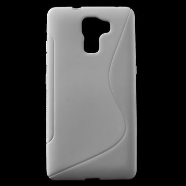 Huawei Honor 7 Elastisches Plastik Case S-Shape - weiss