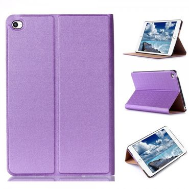 iPad Mini 4 Leder Smart Case mit sandartiger Textur und Standfunktion - purpur