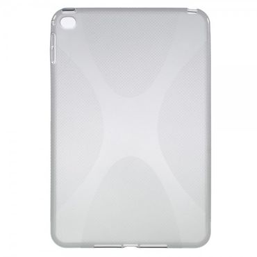 iPad Mini 4 Elastisches Plastik Case X-Shape - grau