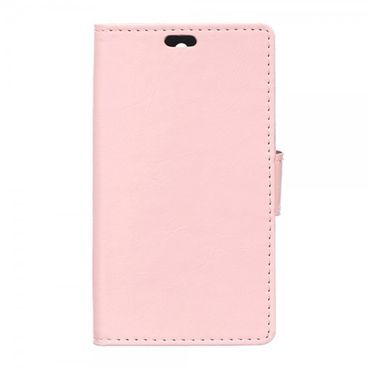Sony Xperia Z5 Compact Crazy Horse Leder Case mit Standfunktion und Kreditkartenslots - pink
