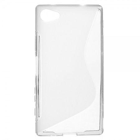 Sony Xperia Z5 Compact Elastisches Plastik Case S-Shape - grau