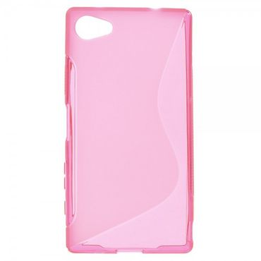 Sony Xperia Z5 Compact Elastisches Plastik Case S-Shape - rosa