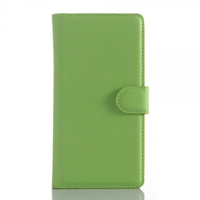 Sony Xperia Z5 Premium/Premium Dual Trendiges Leder Case mit Litchitextur und Kreditkartenslots - grün