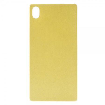 Sony Xperia Z5 Premium/Premium Dual Elastisches Plastik Case mit lederartiger Oberfläche - gelb