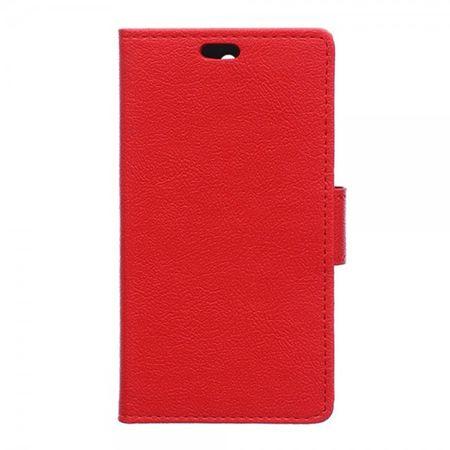 Motorola Moto X Force Magnetisches Leder Flip Case mit Standfunktion - rot