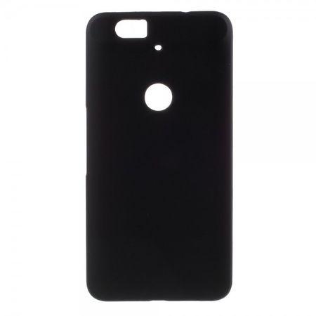 Huawei Nexus 6P Gummiertes Hart Plastik Case - schwarz