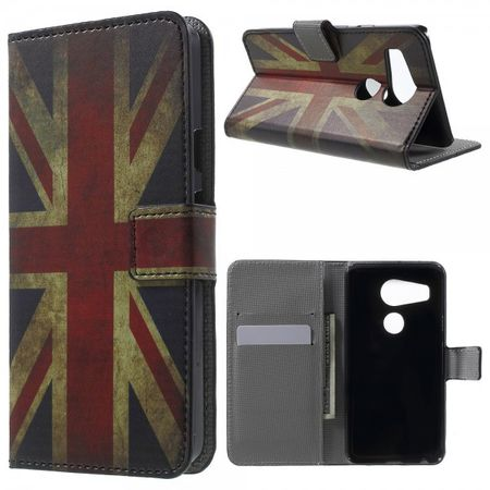 LG Nexus 5X Leder Case mit UK Flagge retro-style