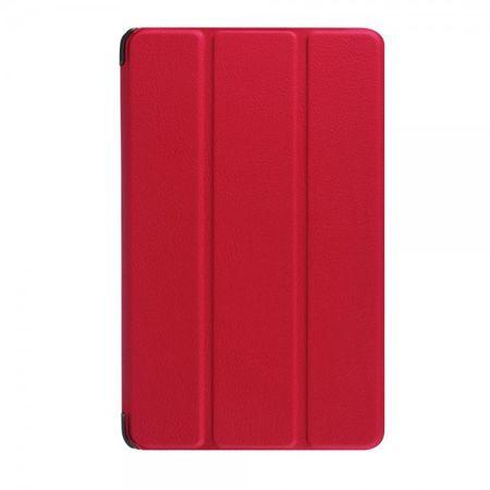 Amazon Fire 7 Dreifach faltbare Leder Case Hülle mit Standfunktion - rot