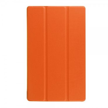 Amazon Fire HD 8 Dreifach faltbare Leder Case Hülle mit Standfunktion - orange