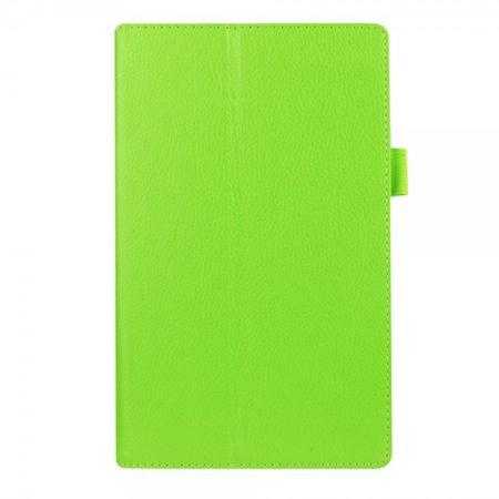 Amazon Fire HD 8 Leder Case Hülle mit Litchitextur und Standfunktion - grün