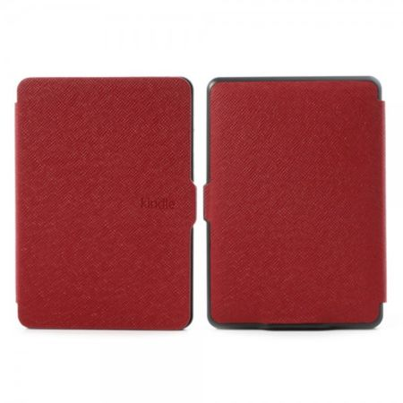 Amazon Kindle Paperwhite Leder Case Hülle mit Kreuzmuster - rot