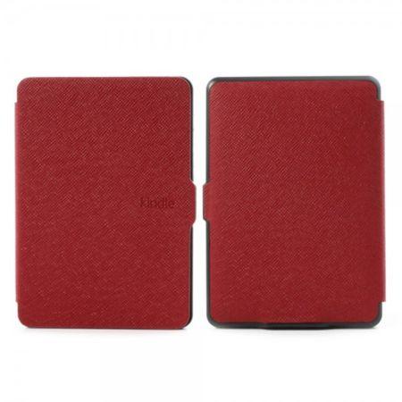 Amazon Kindle Paperwhite Leder Case Hülle mit Kreuzmuster - rot