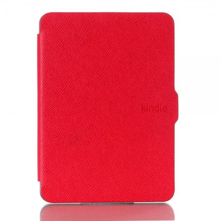 Amazon New Kindle 2014 Leder Flip Case Hülle mit Kreuzmuster - rot