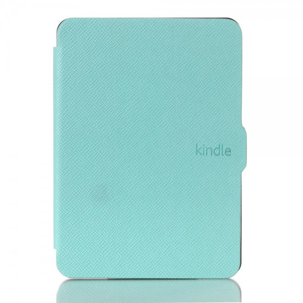 Amazon New Kindle 2014 Leder Flip Case Hülle mit Kreuzmuster - cyan