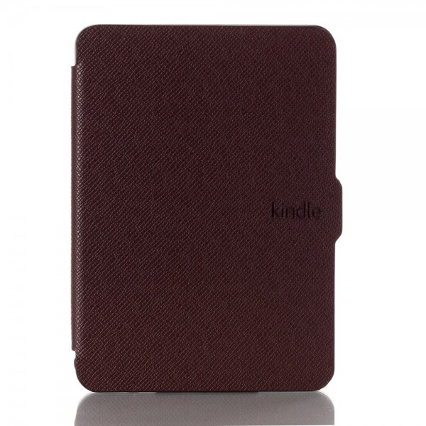 Amazon New Kindle 2014 Leder Flip Case Hülle mit Kreuzmuster - braun
