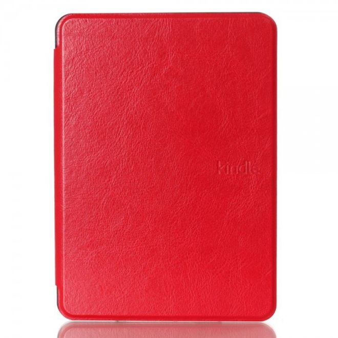 Amazon New Kindle 2014 Schicke Crazy Horse Leder Cover Hülle - rot