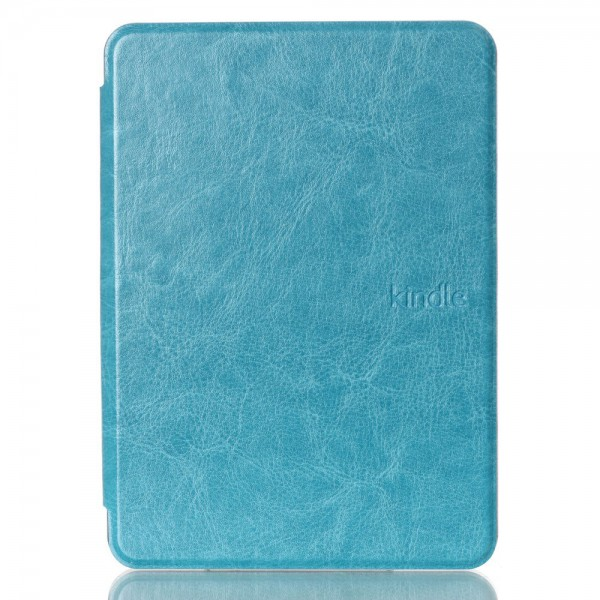 Amazon New Kindle 2014 Schicke Crazy Horse Leder Cover Hülle - hellblau