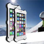 iPhone 6/6S LOVE MEI MK2 Robuste Metall, Silikon und Echtleder Case Hülle - weiss