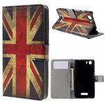 Wiko Bloom2 Leder Case Hülle mit UK Flagge retro-style