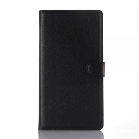 Huawei Ascend P8 Max Leder Case Hülle mit Litchitextur - schwarz