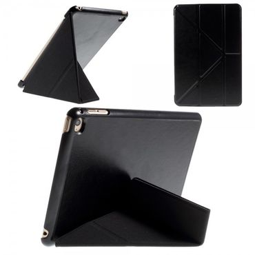 iPad Mini 4 Leder Smart Cover mit Origami Standfunktion - schwarz