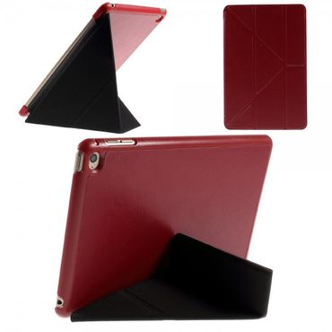 iPad Mini 4 Leder Smart Cover mit Origami Standfunktion - rot